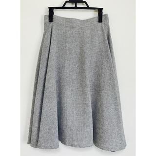 ★AULI アウリィ★フレア スカート ツイード風 美品(ひざ丈スカート)
