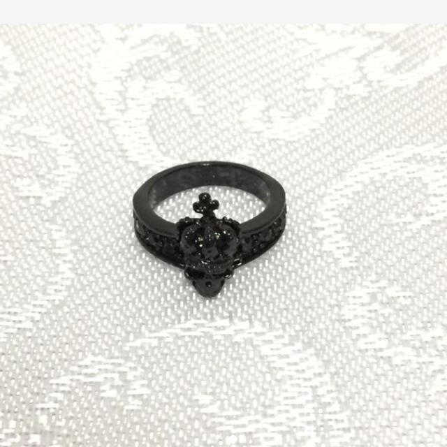クロムハーツ風 指輪 ブラック メンズ レディース ユニセックス レディースのアクセサリー(リング(指輪))の商品写真