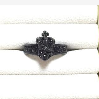 クロムハーツ風 指輪 ブラック メンズ レディース ユニセックス(リング(指輪))