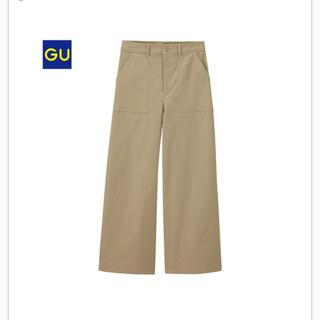 ジーユー(GU)のGU ベイカーワイドパンツ ベージュS(チノパン)