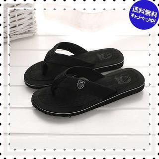 【26.0-26.5cm/ブラック】ビーチ サンダル メンズ 大特価(サンダル)