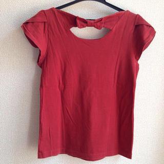 ドゥファミリー(DO!FAMILY)のDo family 袖スカラップ赤tee(Tシャツ(半袖/袖なし))