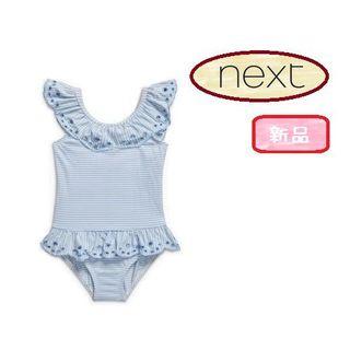 ネクスト(NEXT)の◆新品◆NEXT◆UK3-4◆フリルブルー ワンピース 水着(水着)
