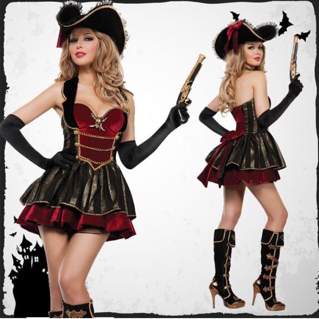 ハロウィンコスチューム 女海賊の2点 エンタメ/ホビーのコスプレ(衣装一式)の商品写真