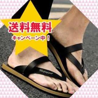 【27.0-27.5cm/ブラック】クラシック ビーサン メンズ 新品(サンダル)