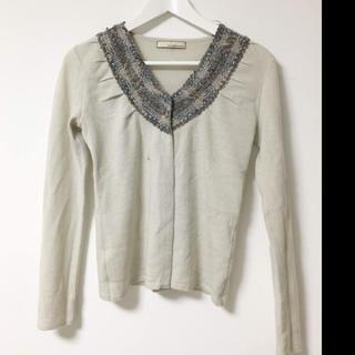 ガリャルダガランテ(GALLARDA GALANTE)のガリャルタガランテ 編み襟 ニットカーディガン(カーディガン)