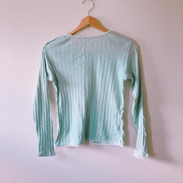 ミントグリーン Tシャツ レディースのトップス(シャツ/ブラウス(長袖/七分))の商品写真