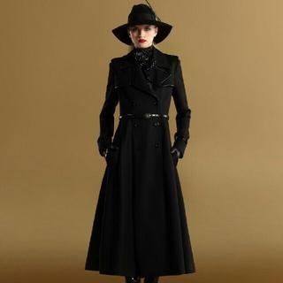 グッチ(Gucci)のほぼ新品 GUCCI 貴重 牛革パイピング ロング コート ハイブランド(ロングコート)