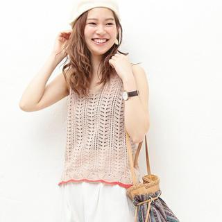 ナチュラルクチュール(natural couture)の新品 ✳︎ 透かし編みタンク naturalcouture(タンクトップ)