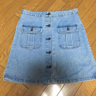 ジーユー(GU)の❤︎GU 台形デニムスカート❤︎(ひざ丈スカート)