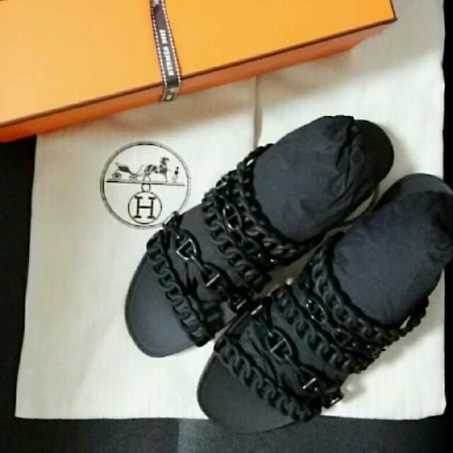 Hermes(エルメス)の★大幅値下げ★新品 エルメス ヌードサンダル(ラバー) 37 黒/ブラック レディースの靴/シューズ(サンダル)の商品写真