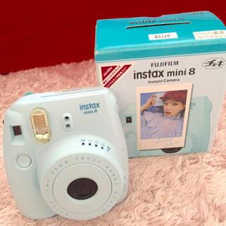 即購入◯instax mini8 チェキ 本体 ブルー(フィルムカメラ)