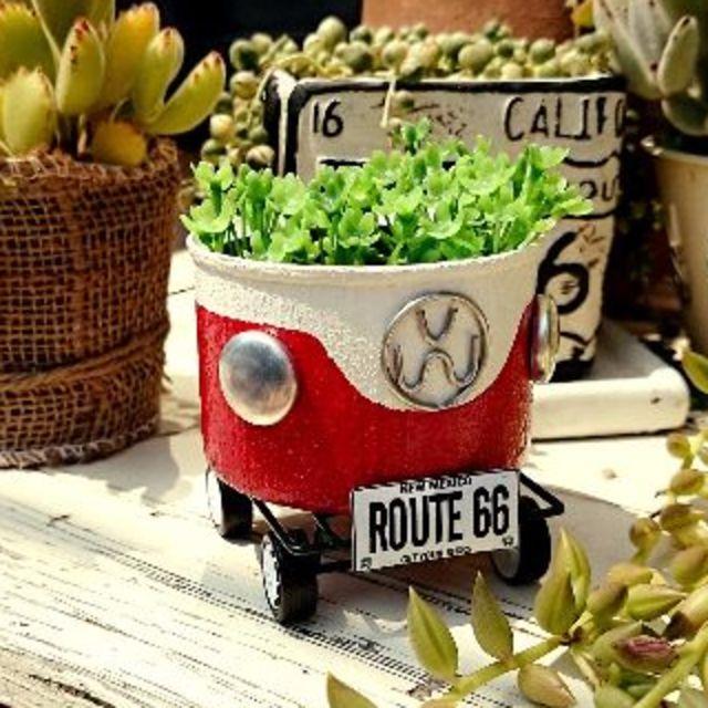 F365 newワーゲン筒缶Bキャリア 赤 ハンドメイドのフラワー/ガーデン(その他)の商品写真
