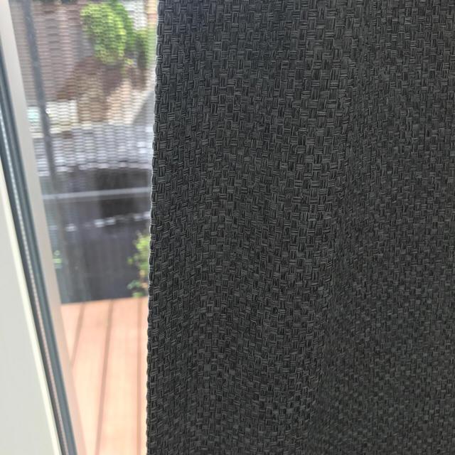 MUJI (無印良品)(ムジルシリョウヒン)の無印オーダープリーツカーテン グレー インテリア/住まい/日用品のカーテン/ブラインド(カーテン)の商品写真