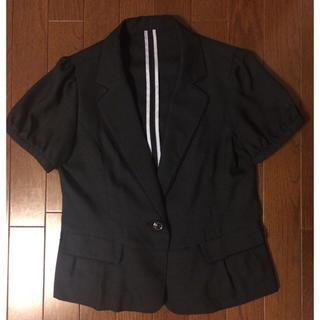 パターンフィオナ(PATTERN fiona)のpattern◆半袖ジャケット◆ネイビー(テーラードジャケット)