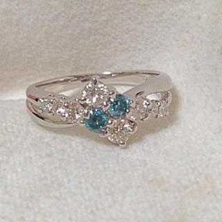 ポンテヴェキオ(PonteVecchio)のダイヤモンド プラチナ リング ブルー(リング(指輪))