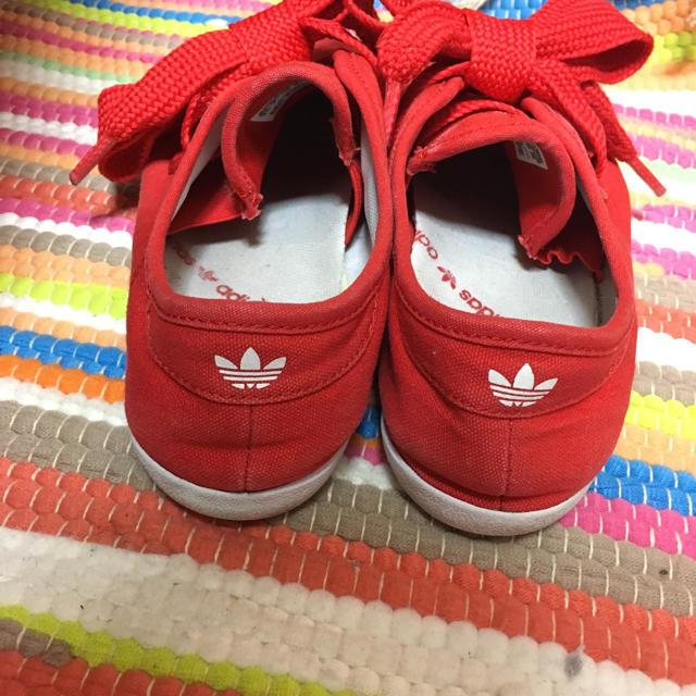 adidas(アディダス)のadidas リレースロー 赤 23.5cm レディースの靴/シューズ(スニーカー)の商品写真