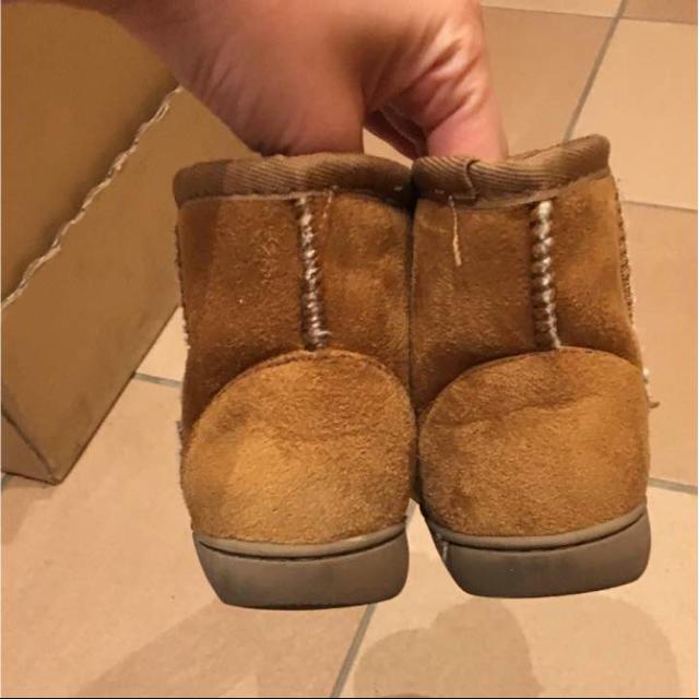 MUJI (無印良品)(ムジルシリョウヒン)の無印良品 ムートン風ブーツ キッズ/ベビー/マタニティのキッズ靴/シューズ (15cm~)(ブーツ)の商品写真