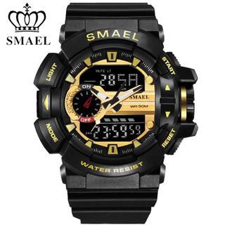SMAEL 腕時計 防水 スポーツ ミリタリー smael アナログ デジタル(腕時計(デジタル))
