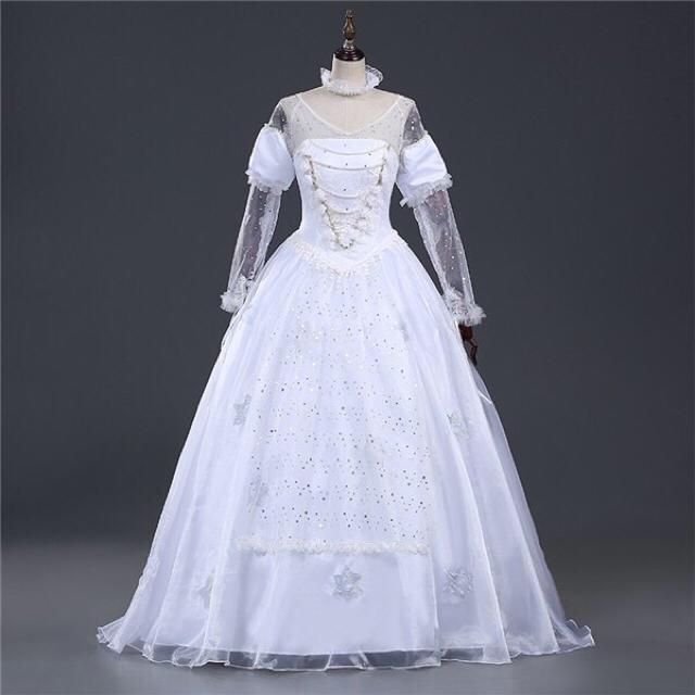 【新品】白の女王 アリス 3点セット dハロ 仮装 ハロウィン エンタメ/ホビーのコスプレ(衣装)の商品写真