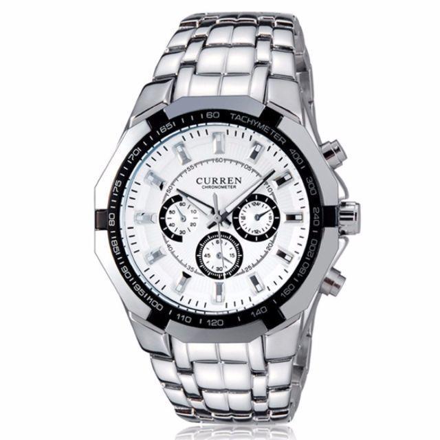 A122 めちゃモテ!メンズステンレス腕時計☆CURREN♪黒面 メンズの時計(腕時計(アナログ))の商品写真
