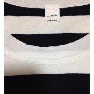 ムジルシリョウヒン(MUJI (無印良品))のLAITERIE ボーダーT(Tシャツ(長袖/七分))