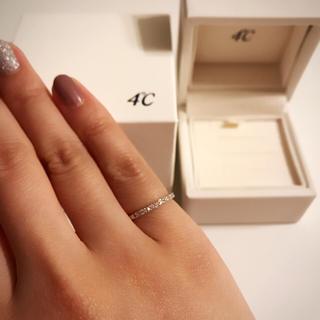 ヨンドシー(4℃)のお値下げします!4℃ K18WG ピンキーリング 3号(リング(指輪))