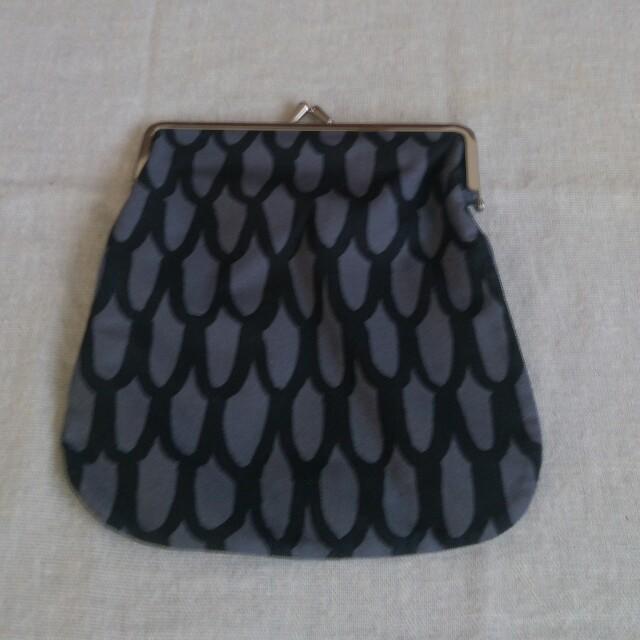 marimekko(マリメッコ)の*マリメッコ*がま口グレーポーチ レディースのファッション小物(ポーチ)の商品写真