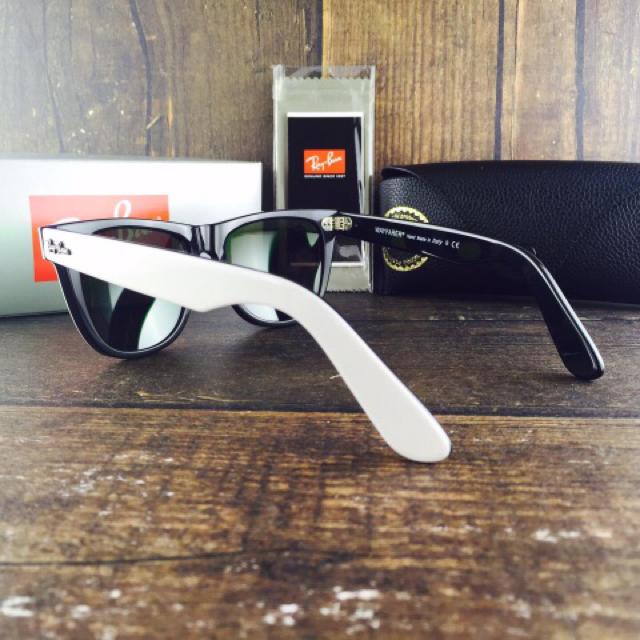 Ray-Ban(レイバン)のレイバンRayBanRB2140 956 54㎜〈ホワイト×グリーンミラー〉 メンズのファッション小物(サングラス/メガネ)の商品写真