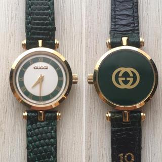 5d51c184d933 グッチ(Gucci)のグッチ GUCCI レディース 腕時計 オールドグッチ グリーン(腕時計)