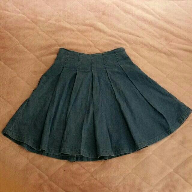one after another NICE CLAUP(ワンアフターアナザーナイスクラップ)のNICE CLAUP★デニムプリーツミニスカート レディースのスカート(ミニスカート)の商品写真