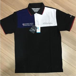アルバトロス(ALBATROS)の【新品】メンズ 半袖ポロシャツ M 紳士 黒 アルバトロス ALBATROSS(ポロシャツ)