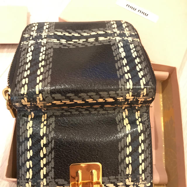 new styles 464c4 da6cd ミュウミュウ チェックお財布