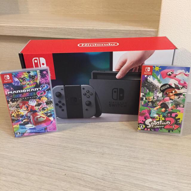 Nintendo Switch(ニンテンドースイッチ)の任天堂スイッチ本体カセット2個セット エンタメ/ホビーのテレビゲーム(家庭用ゲーム本体)の商品写真