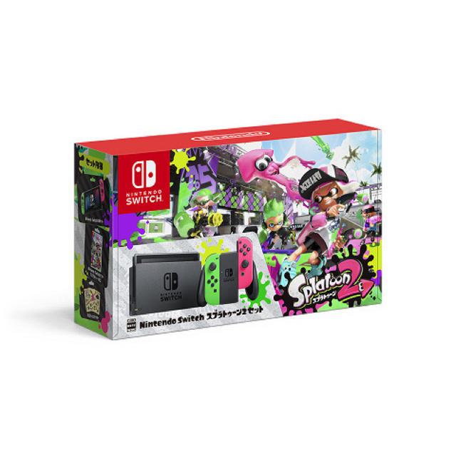 Nintendo Switch(ニンテンドースイッチ)のNintendo Switch Splatoon2 セット 本体 スプラトゥーン エンタメ/ホビーのテレビゲーム(家庭用ゲーム本体)の商品写真