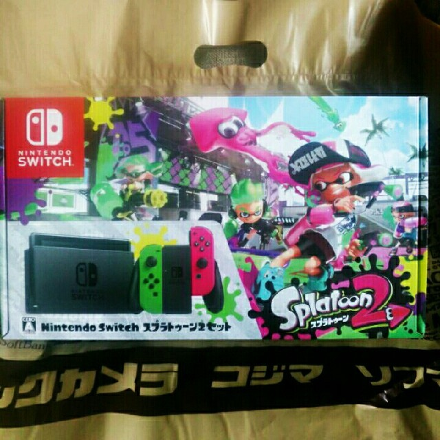 Nintendo Switch(ニンテンドースイッチ)のsaki様専用☆送料込/任天堂スイッチ スプラトゥーン2セット エンタメ/ホビーのテレビゲーム(家庭用ゲーム本体)の商品写真