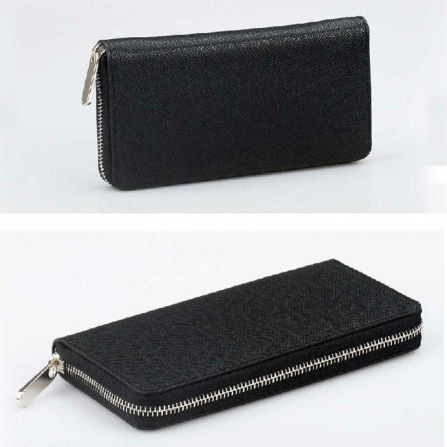 メンズ 長財布 黒 ラウンドファスナー メンズのファッション小物(長財布)の商品写真