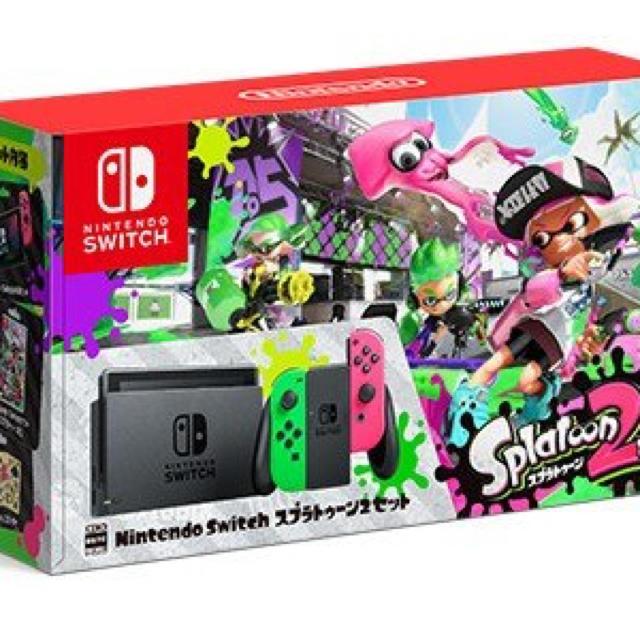 Nintendo Switch(ニンテンドースイッチ)のまほ スプラトゥーン2セット エンタメ/ホビーのテレビゲーム(家庭用ゲーム本体)の商品写真