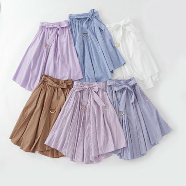 The Virgnia(ザヴァージニア)のvirgnia ヘムスカート ♡ ホワイト レディースのスカート(ひざ丈スカート)の商品写真