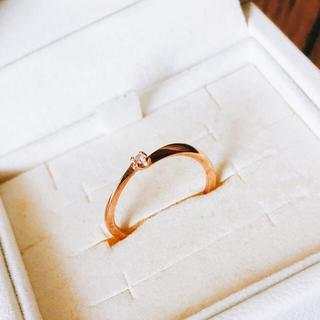 カナルヨンドシー(canal4℃)の4℃ ピンキーリング ピンクゴールド(リング(指輪))