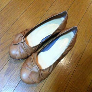Lazy Swanぺたんこキャメル☆ レディースの靴/シューズ(ハイヒール/パンプス)の