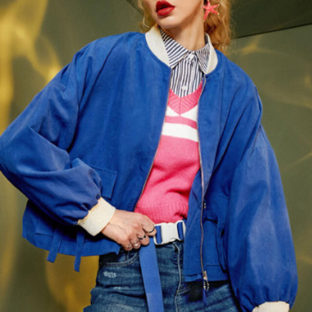 原宿系  海外  ピンクニットベスト  レディースのトップス(ニット/セーター)の商品写真