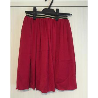 デンドロビウム(DENDROBIUM)の【値下げ中】赤のフレアスカート(ミニスカート)