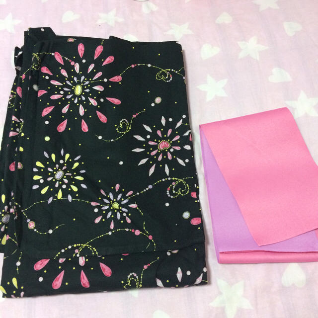 Pinky Girls 浴衣、帯セット レディースの水着/浴衣(浴衣)の商品写真