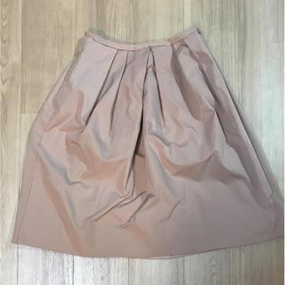 デミルクスビームス(Demi-Luxe BEAMS)のビームス ふんわりタック付きスカート ピンクベージュ(ひざ丈スカート)