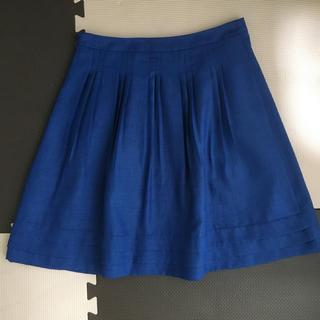 プーラフリーム(pour la frime)の❤︎美品❤︎【プーラフリーム】ブルーのひざ丈スカート(ひざ丈スカート)