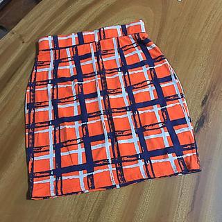 マウジー(moussy)のmoussy 鮮やかなオレンジ スカート (ミニスカート)