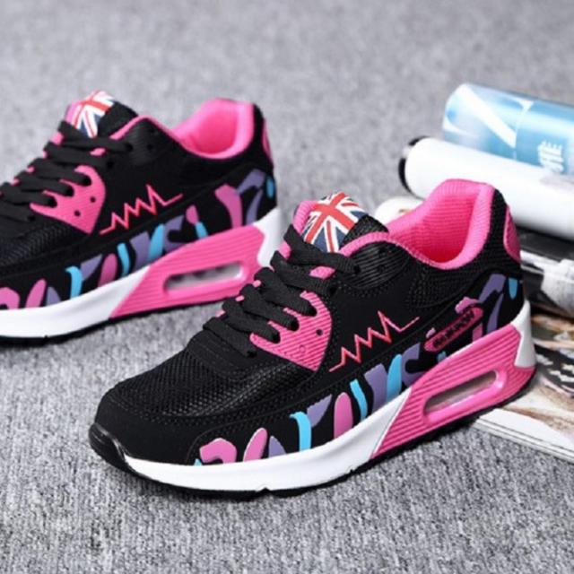 レディース スニーカー ランニング エアー ビビットカラー ピンク レディースの靴/シューズ(スニーカー)の商品写真