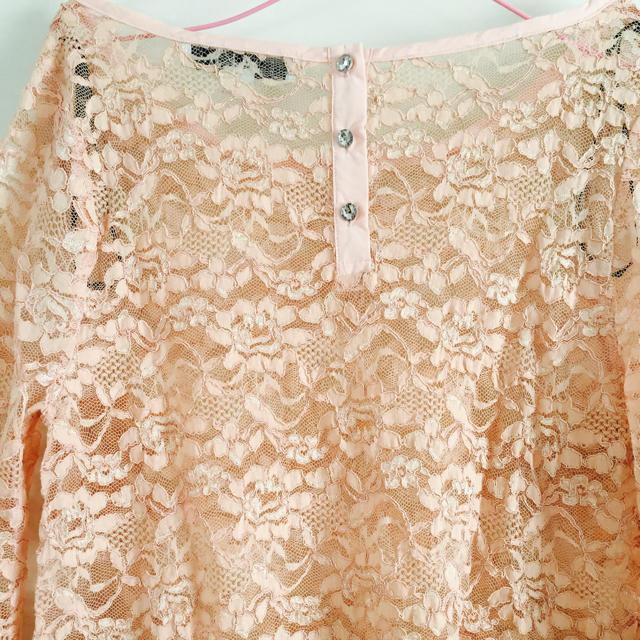 FOREVER 21(フォーエバートゥエンティーワン)のフォーエバー21 forever 花柄 シースルー ブラウス ピンク レディースのトップス(シャツ/ブラウス(長袖/七分))の商品写真