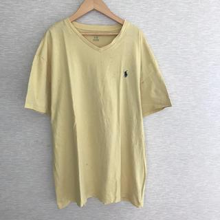 ポロラルフローレン(POLO RALPH LAUREN)のUSA古着 VネックTシャツ【L】ラルフローレン(Tシャツ/カットソー(半袖/袖なし))